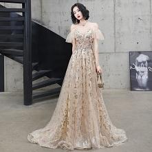 Uroczy Szampan Sukienki Wie...