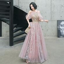 Moda Rumieniąc Różowy Sukie...