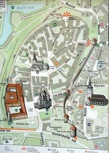 Mapka najstarszej części miasta
