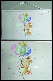 Króliczek i balony. Obraz n...