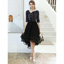 Moda Czarne Sukienki Koktaj...
