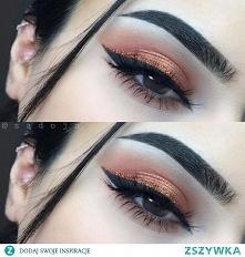 Delikatny makijaż idealny na co dzień. Kreska podkreśla oko a cienie w ciepły...