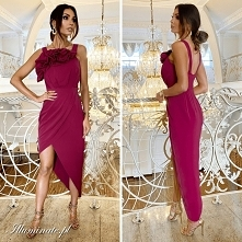 Asymetryczna sukienka w kol...