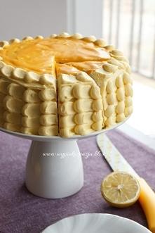 tort z cytrnynowy z lemon curd