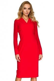 Koktajlowa sukienka z szyfo...