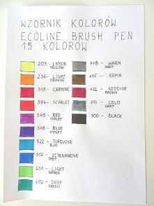 Wzornik kolorów brush pen e...
