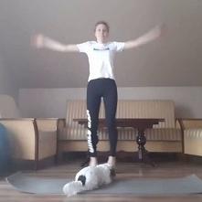 #zostańwdomu #wfwdomu  Moja propozycja ćwiczeń na WF prowadzony zdalnie. Pies pomaga przy ćwiczeniach