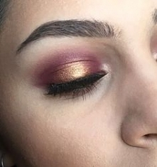 cranberry and gold eyes