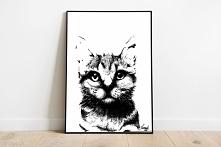 Rysunek grafika koteł na twoją ścianę