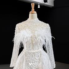Luksusowe Białe Perła Pióro...