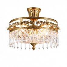 4-Light 41cm Flush Mount Lights Copper Circle / Mini Brass Traditional / Clas...