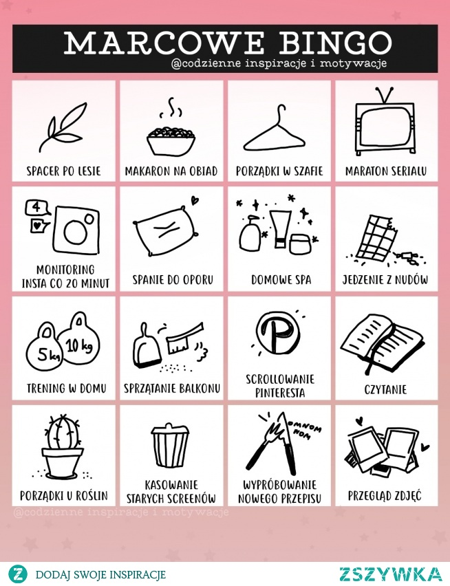 Bingo :) Codzienne Inspiracje i motywacje