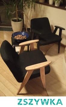 stare - nowe meble ; kultowe fotele 366 po samodzielnym odnowieniu