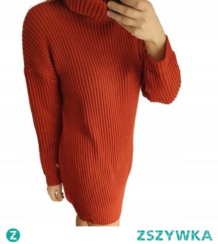 Sukienka sweterkowa z golfem! do zakupienia po kliknięciu w zdjęcie