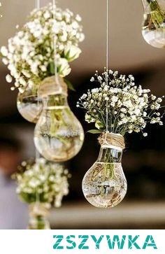 Pomysł na ślubną dekorację sali <3