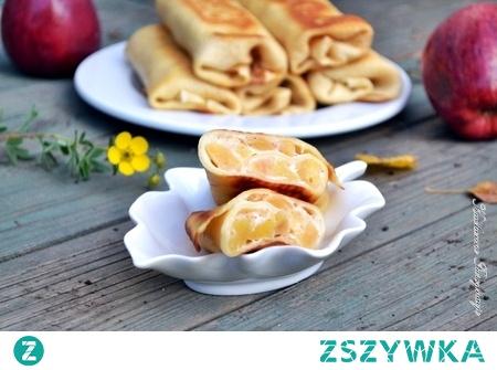 Naleśniki z ricottą i prażonymi jabłkami