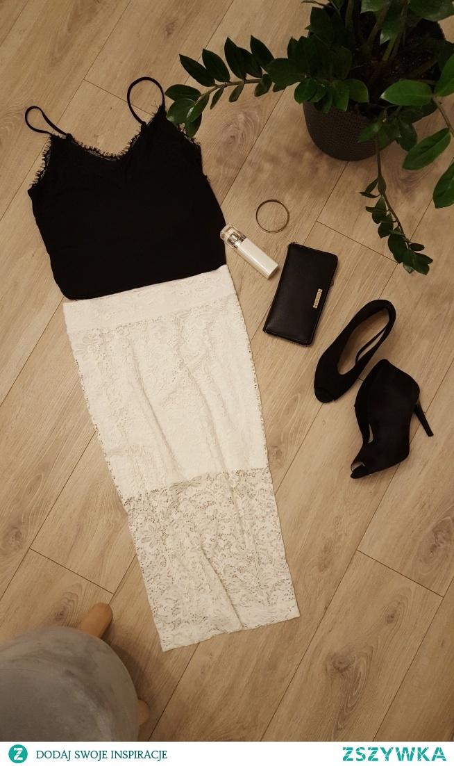 ołówkowa/koronkowa/spódnica/vinted/magnolia-style/7zł/