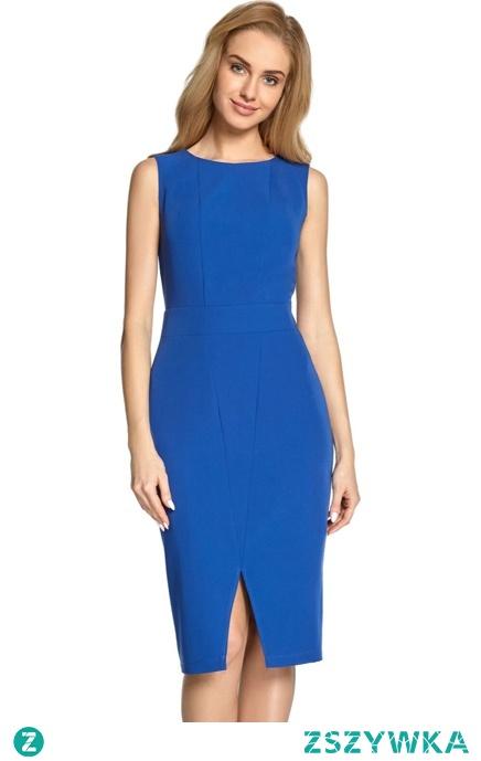 Klasyczna elegancka sukienka z modelującymi przeszyciami Sukienki.shop