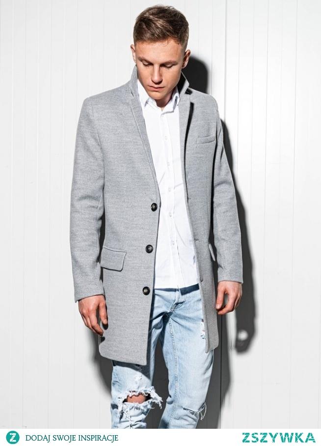 Modny płaszcz męski za pas o prostym kroju to doskonała propozycja dla modnego, eleganckiego mężczyzny. Doskonale sprawdzi się w wiosennych stylizacjach  PONIŻEJ LINK DO PŁASZCZU:
