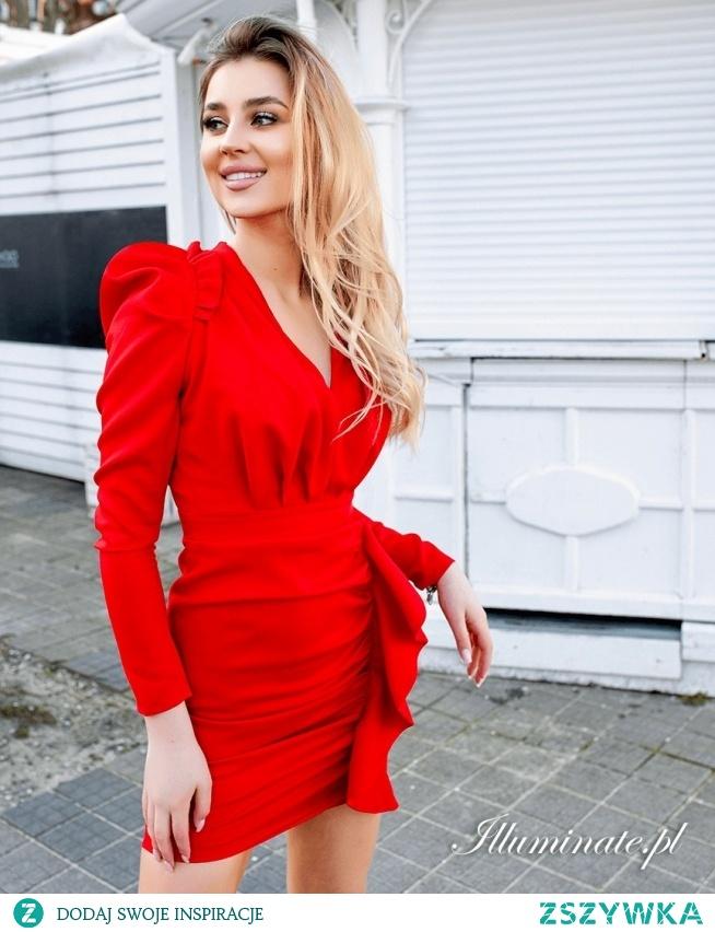 Czerwona oryginalna sukienka marki illuminate.pl