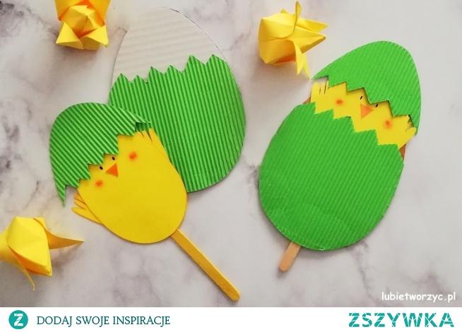 Tutorial ukazujący sposób wykonania uroczego kurczaczka ukrytego w papierowym jajku ;)