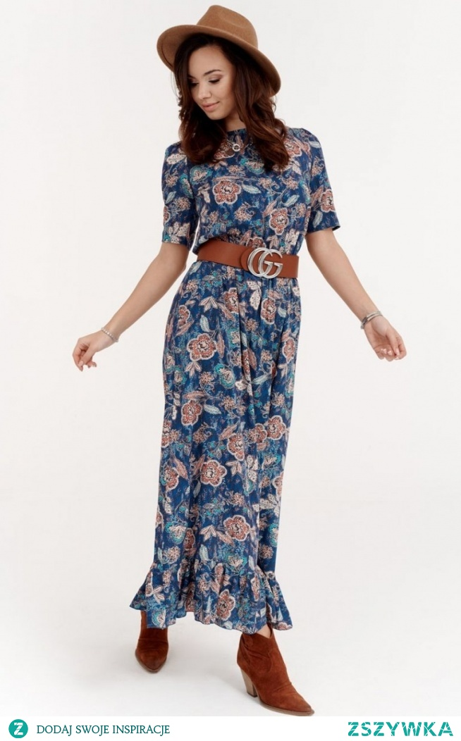 Roco Szyfonowa sukienka w kwiaty 283/W02