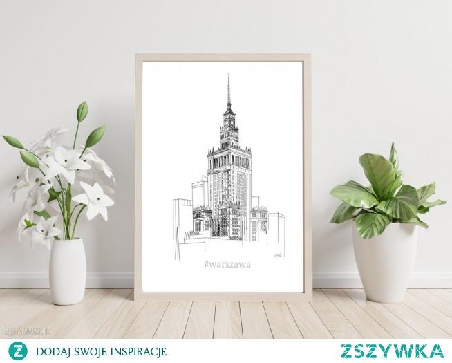 Autorski projekt Warszawy. Digital painting.
