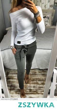 spodnie wiazane na kokarde