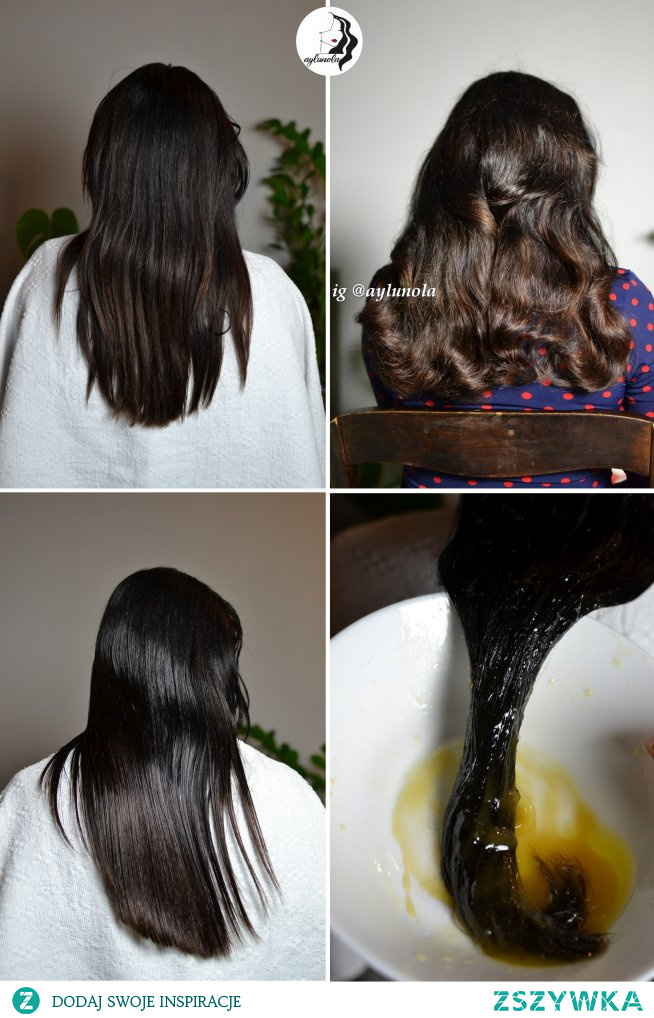 Przykładowa pielęgnacja włosów (efekt przed i po) bardzo przesuszonych do poczytania na IG @aylunola ; )