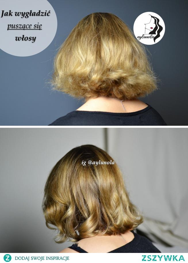 Opis pielęgnacji włosów rozjaśnionych, puszących się na moim IG: aylunola.