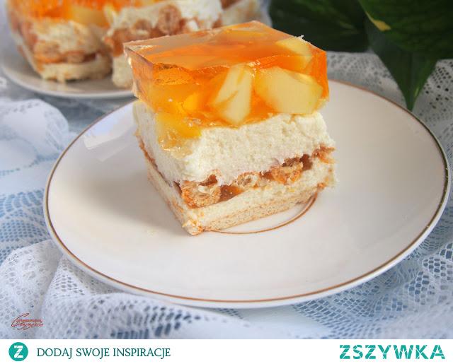 ciasto z kaszą manną i owocami bez pieczenia