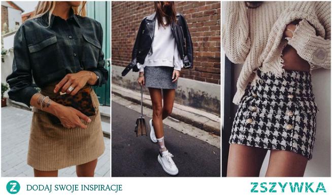 Wiosenne stylizacje ze spódnicą mini