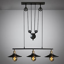 3 Light Island Chandelier Downlight Painted Finishes Metal Mini Style Adjusta...