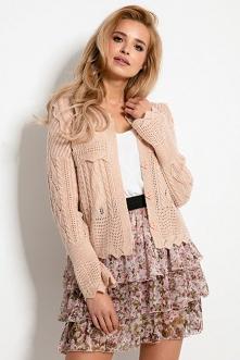 Krótki ażurowy sweter kardigan na lato | Sukienki.shop
