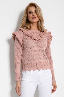 Ażurowy krótki sweterek na ...