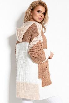 Wielokolorowy sweter narzut...