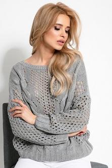 Lekki ażurowy sweter na wio...