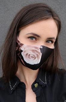 Maseczka ochronna w róże