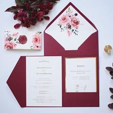 Zaproszenia ślubne Burgund ...