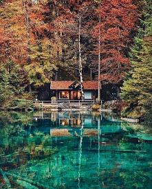 Jezioro Blausee w Szwajcarii