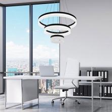 Zuma Line CIRCLE LAMPA WISZĄCA LED L-CD-03-BL CZARNA/BLACK 003064-001410  Lam...