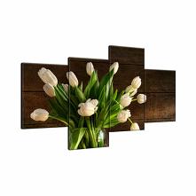 obraz kremowe tulipany