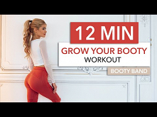 12 MIN GROW YOUR BOOTY - not your thighs / Booty Activation, no squats, knee ...