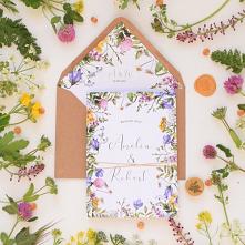 Zaproszenie ślubne - Kwiaty...