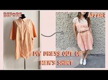sukienka z koszuli diy