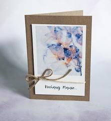 Kartka Dzień Matki Rękodzieło :)  Karteczki robione na zamówienie. EKO z kopertą.  Z dedykacją dla mam, minimalistyczne karteczki mojego projektu :)
