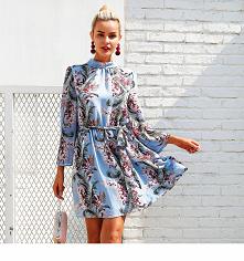 Kobieca zwiewna sukienka