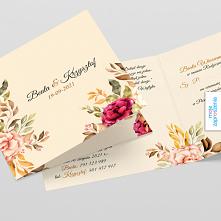 Zaproszenia ślubne Jesienne kwiaty. Sprawdź nasze zaproszenia oraz inne produ...