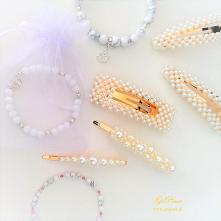 Biżuteria  z kamieni naturalnych oraz dodatki z perełkami