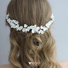 Eleganckie Srebrny Kwiat Gr...